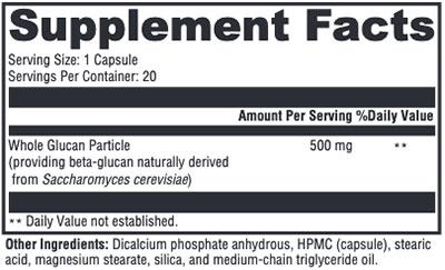 Xymogen ImmunotiX 500 Supplement Facts