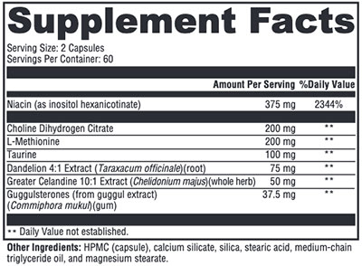 Xymogen LipotropiX Supplement Facts