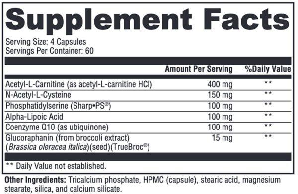 Xymogen NeuroActives BrainSustain Supplement Facts