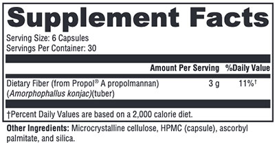 Xymogen OptiFiber Lean Capsules Supplement Facts