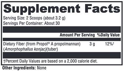 Xymogen OPtiFiber Lean Powder Supplement Facts