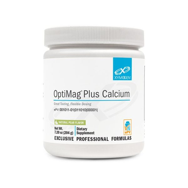 Xymogen OptiMag Plus Calcium Pear Bottle