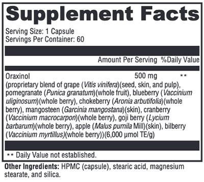 Xymogen Oraxinol Supplement Facts