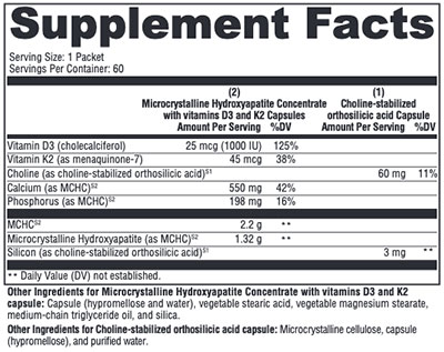 Xymogen OSAplex MK-7 Supplement Facts