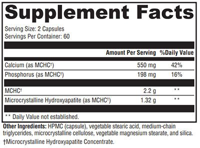 Xymogen Ossopan 1100 Supplement Facts
