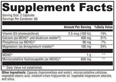 Xymogen Ossopan MD Supplement Facts