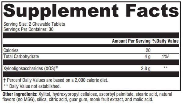 Xymogen PrebioMax (Natural Sour Apple) Supplement Facts