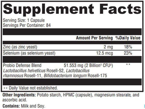 Xymogen Probio Defense Supplement Facts
