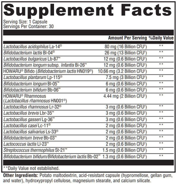 Xymogen ProbioMax Complete DF Supplement Facts