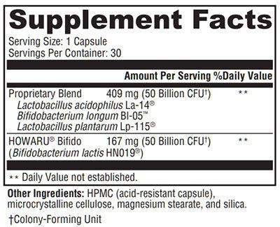 Xymogen ProbioMax DF Supplement Facts