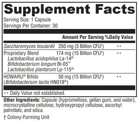 Xymogen ProbioMax Sb DF Supplement Facts