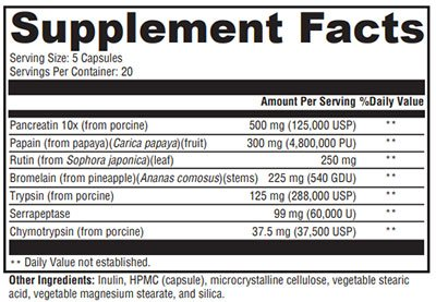 Xymogen ProteoXyme Supplement Facts