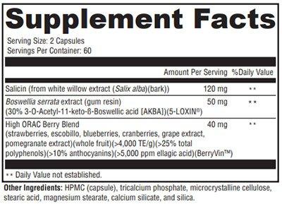 Xymogen Saloxicin Supplement Facts