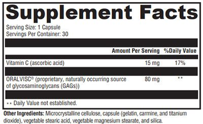 Xymogen SynovX Metabolic Supplement Facts