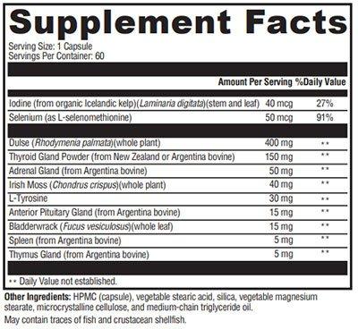 Xymogen T-150 Supplement Facts