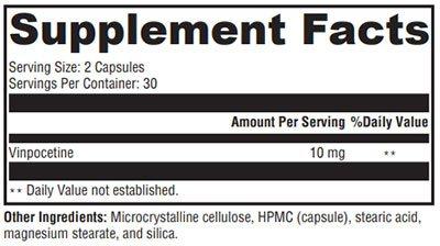 Xymogen Vinpocetine Supplement Facts