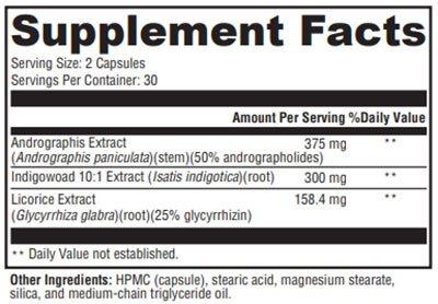Xymogen Viragraphis Supplement Facts
