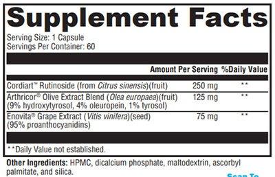 Xymogen VitalVasc Supplement Facts